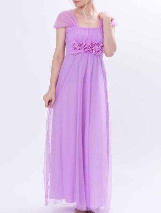 ラベンダーロングドレス♪ステージドレス ラミューズ