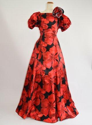 薔薇のロングドレス1121ラミューズドレス演奏会