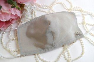 薄型シルクマスクモチーフ付*洗える!シルク100%マスク☆コロナ対策・風邪・花粉対策・喉のケアに☆マスク