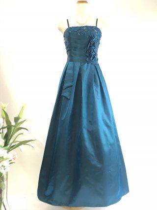 コードレースのロングドレス*ブルー/ 演奏会 ラミューズドレス通販