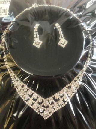 【イヤリングセット】シンプルダイヤモンド /  ステージアクセサリー