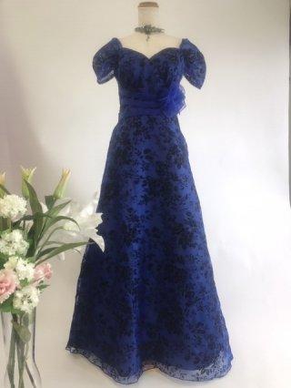 エンドブルー*お袖付きフロッキードレス*ステージ衣装の通販