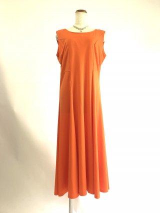 【XL・2L】オレンジ*ノースリーブワンピース3298/ 演奏会 ラミューズドレス通販