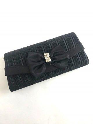 ブラックリボンクラッチバック♡パーティー結婚式/ステージ衣装