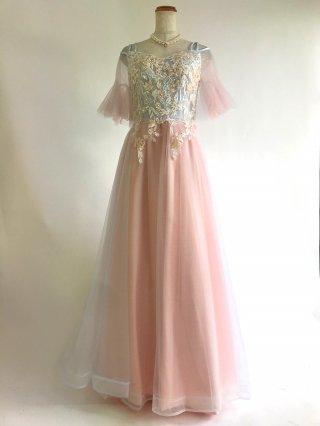 フェアリードレス♪ピンク*水色*お袖付きオフショルダー/ 演奏会 ラミューズドレス通販