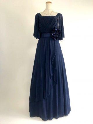 お袖付き女神ラインロングドレス*ネイビー/1778演奏会