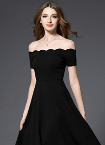 ブラックオフショルダー*ドレス*ワンピース/ラミューズドレス 演奏会