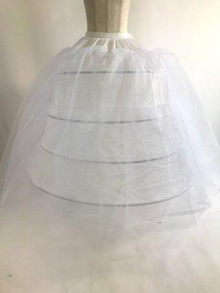 4段ワイヤーパニエ♪ロングドレス用 パニエ/ 白 / ラミューズドレス通販