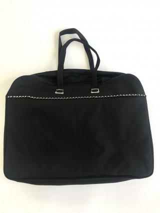 ドレス用鞄大・小物収納2つ付きバッグ・黒パーティー結婚式/ステージ衣装