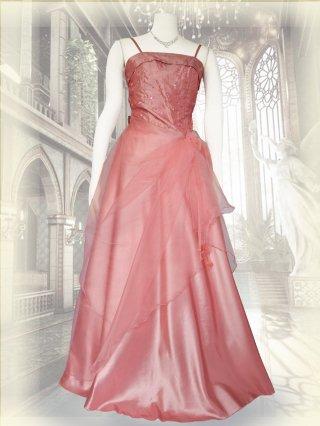 小柄な方*ピンクの鈴蘭ロングドレス9010/ 演奏会 ラミューズドレス通販