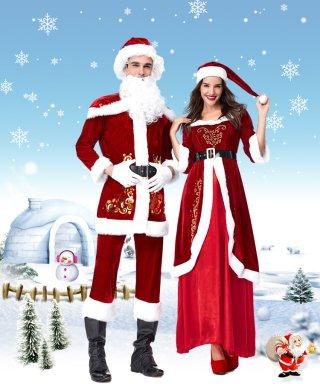 クリスマス 長袖ドレス☆サンタクロース コスチューム 3点セット 演奏会ロングドレス / 演奏会 ラミューズドレス通販