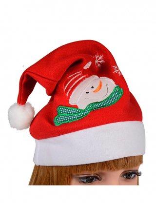 クリスマス サンタクロース帽子*スノーマン*赤 演奏会 ラミューズドレス通販