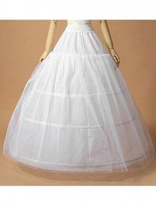 3段ワイヤーパニエ♪ロングドレス用 パニエ/ 白 / ラミューズドレス通販