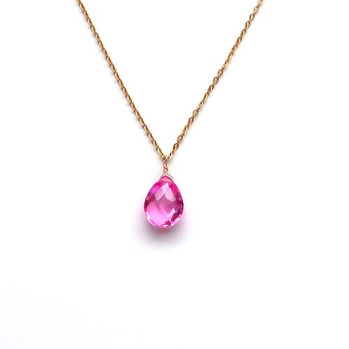 Fluorescent Pink Necklace