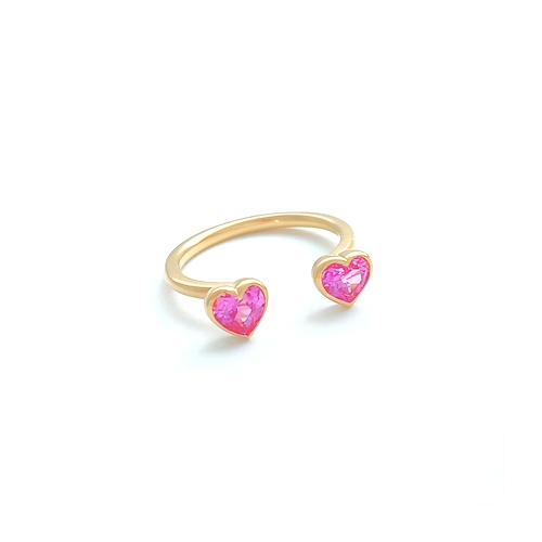 Pink Sapphire Hert Ring