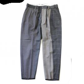 Multi wool wide tapered trousers / RICHFIELD(リッチフィールド)