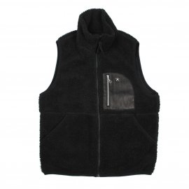 <img class='new_mark_img1' src='https://img.shop-pro.jp/img/new/icons7.gif' style='border:none;display:inline;margin:0px;padding:0px;width:auto;' />LEATHER PK PILE VEST /Schott N.Y.C
