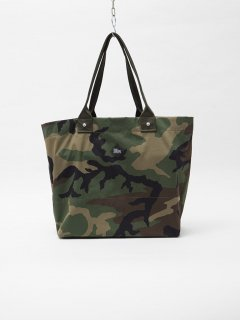 CB029  CORONA・MILK BAG M / NYLON+COTTON TWILL - WOODLAND CAMOUFLAGE U.S