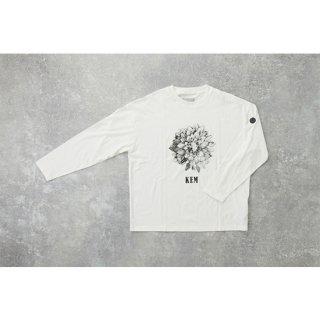 KEM20AW-008 KEM フラワープリントLST WHITE【20% OFF 780円引き!】