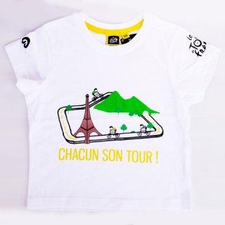 【ツール・ド・フランス】グラフィックT ホワイト チャイルド