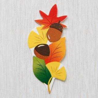 秋の葉のりなしラベル(10枚入)