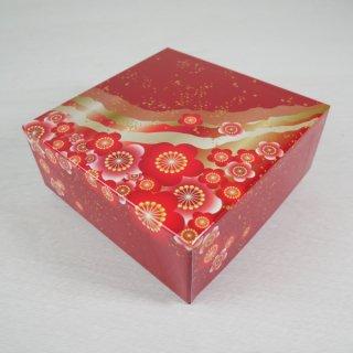 コレクションBOX130角(紅梅・赤)