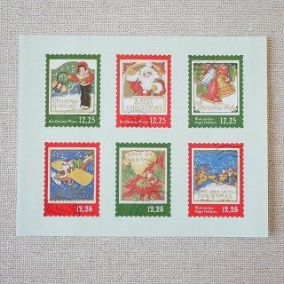 ギャラリーシール 切手クリスマス (1シート)