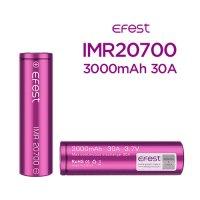 【ネコポス対応可】【正規品】Efest IMR20700 3000mAh 30A 1本【イーフェスト フラットトップ バッテリー】