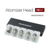 【ネコポス対応可】WISMEC Atomizer Head 5個セット【ウィズメック アトマイザーヘッド 電子タバコ VAPE コイル】