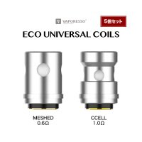 【ネコポス対応可】Vaporesso ECO UNIVERSAL COILS 5個セット【ベイパレッソ エコユニバーサルコイル EUC TARGET MINI2 MESHED CCELL】
