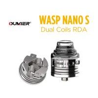 OUMIER WASP NANO S Dual Coils RDA 25mm【オウミヤー ワスプナノエス デュアルコイル アトマイザー】