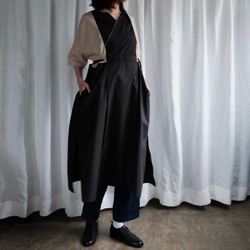 Black × Beige Tribal Dress by suie