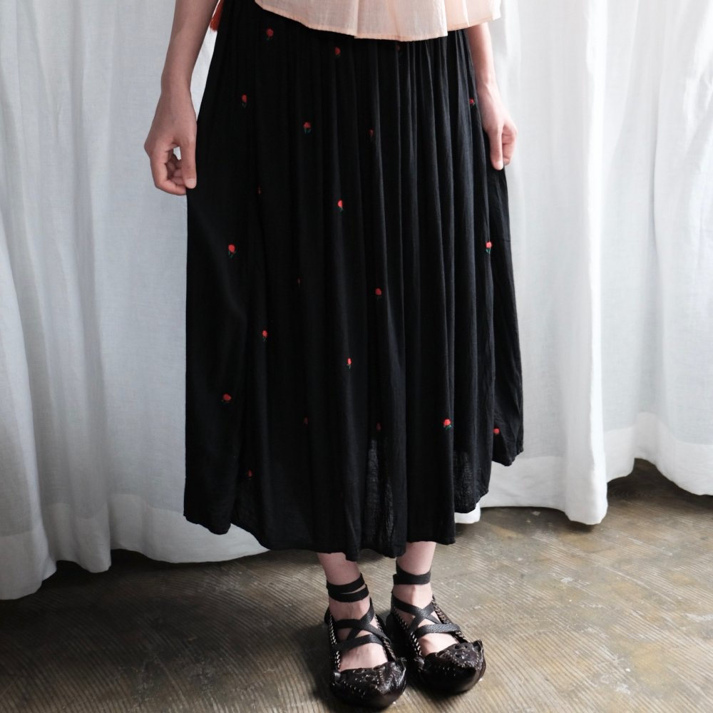 [VINTAGE] Flower Embroidered Pleated Skirt From Székely Land
