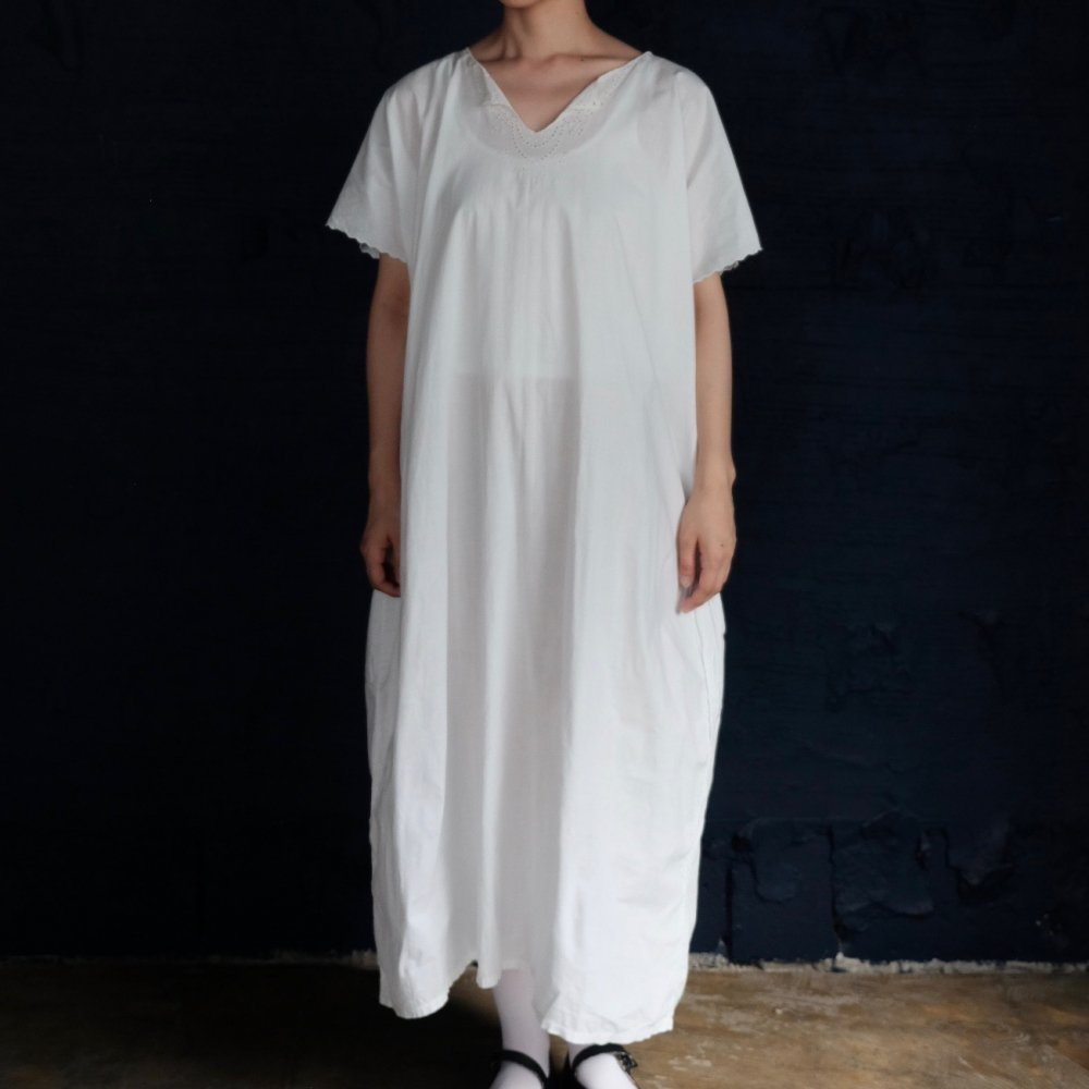 [VINTAGE] Silky Cotton Maxi Long Dress
