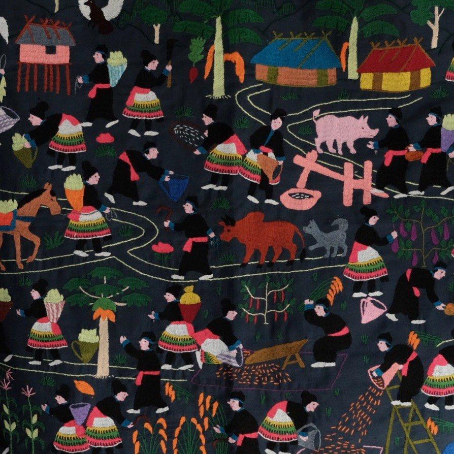 Hmong Story Cloth Embroidery by Boinu