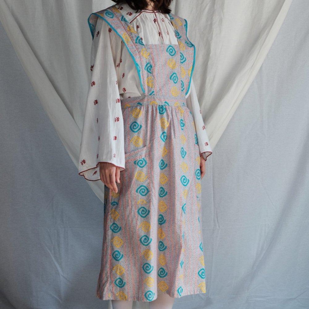 [VINTAGE] Swirl Apron Dress