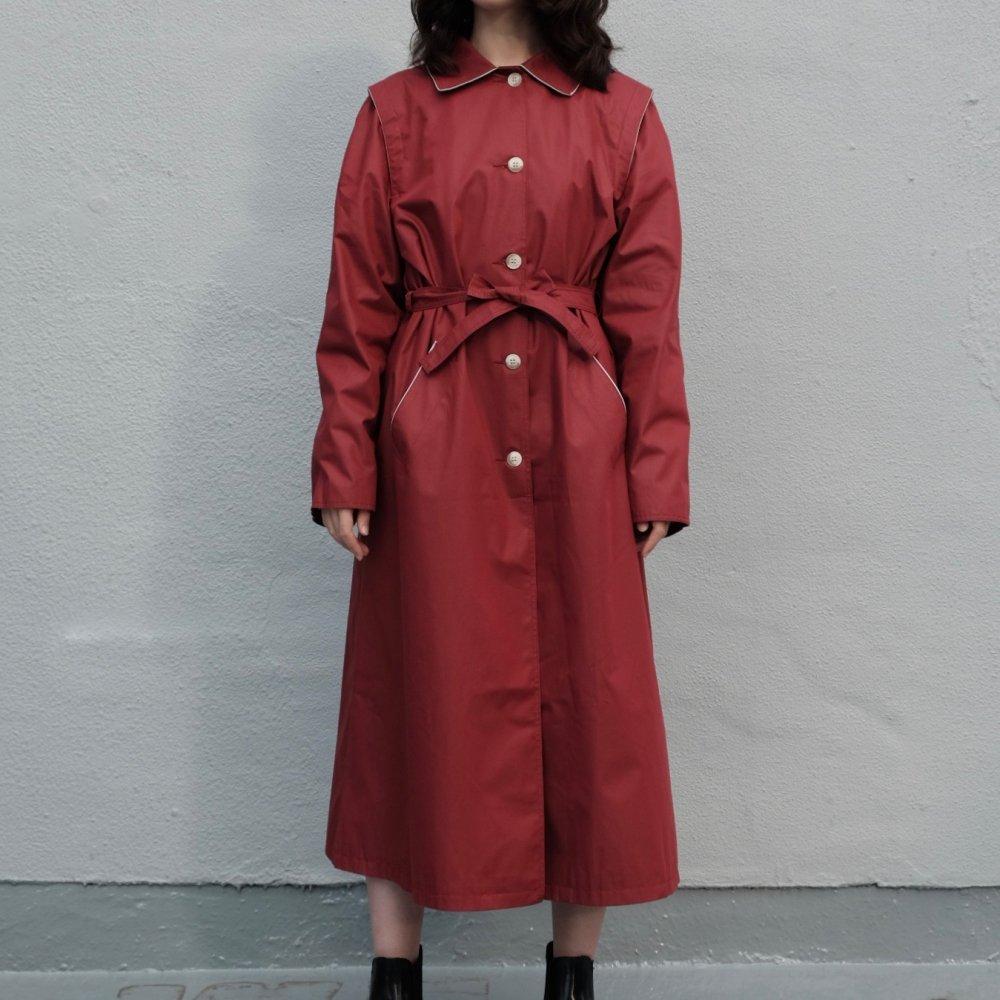 [VINTAGE] Adzuki Red Belted Coat
