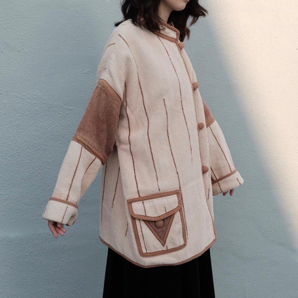 [VINTAGE] Cacao Triangle Oversized Jacket: