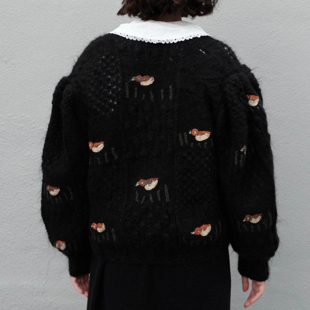 [VINTAGE] Water Bird Garden Cardigan
