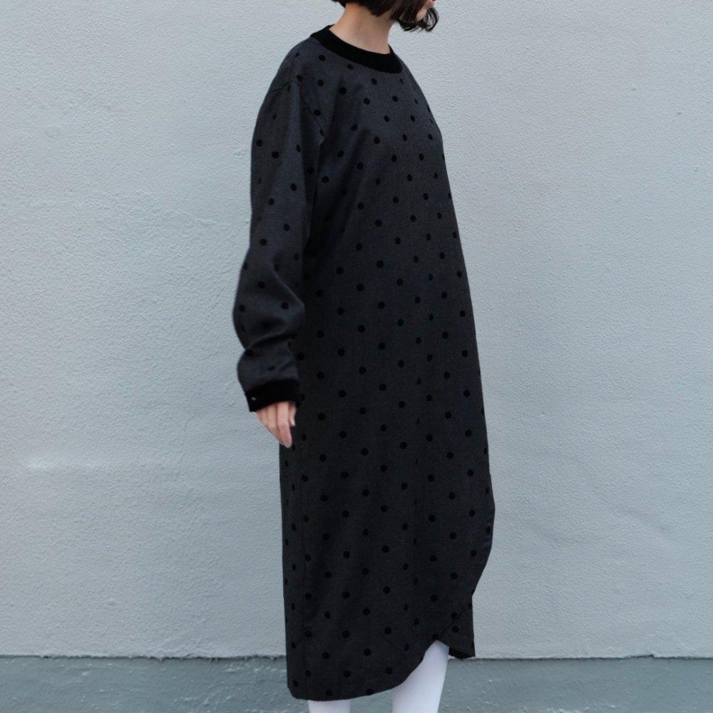 [VINTAGE] Dots & Trimed I-line Dress