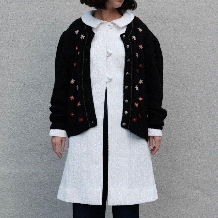 [VINTAGE] Edelweiss Puffy Sleeve Cardigan