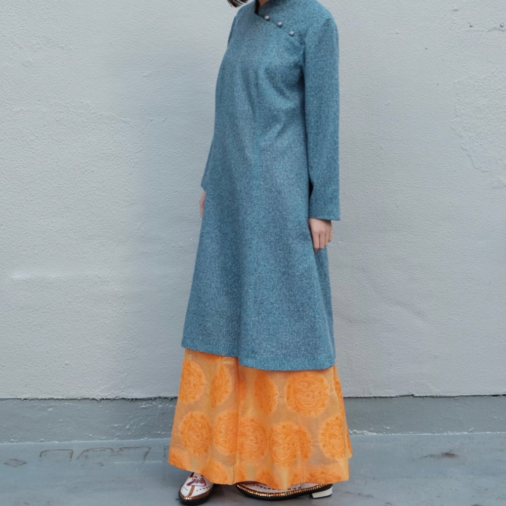 [VINTAGE] Tangerine Orange Maxi Skirt