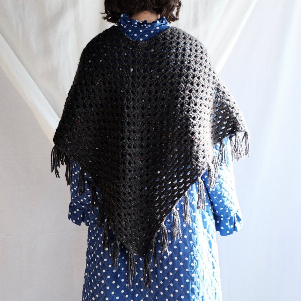 [VINTAGE] Hand Crochet Konpeitō Color Blend Cape