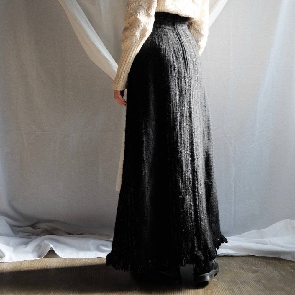 [VINTAGE] Winter Black Maxi Skirt