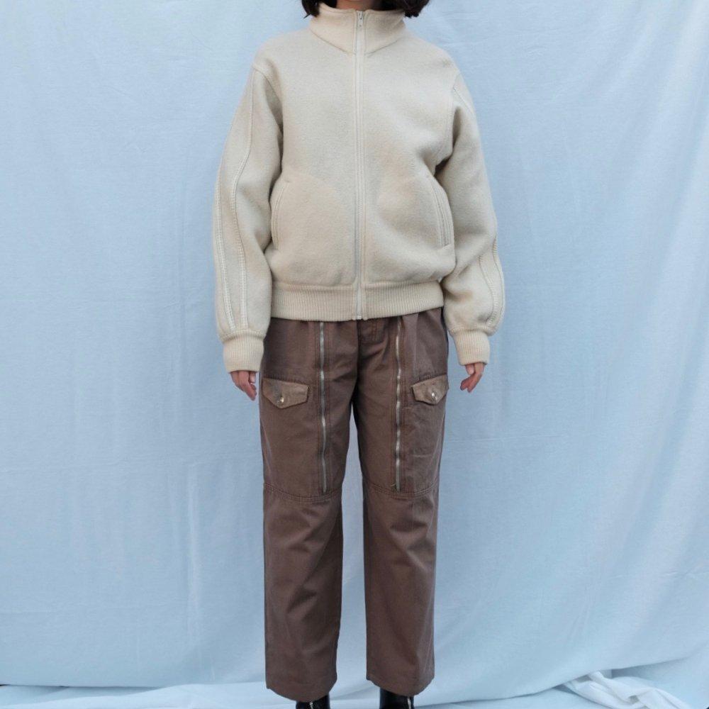 [VINTAGE] Three Striped Boiled Wool Jacket