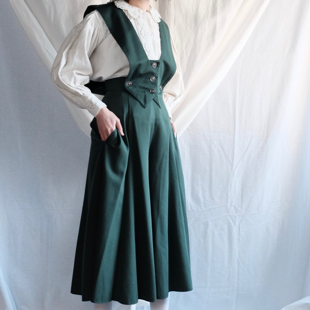 [VINTAGE] Peter Pan Green Overalls