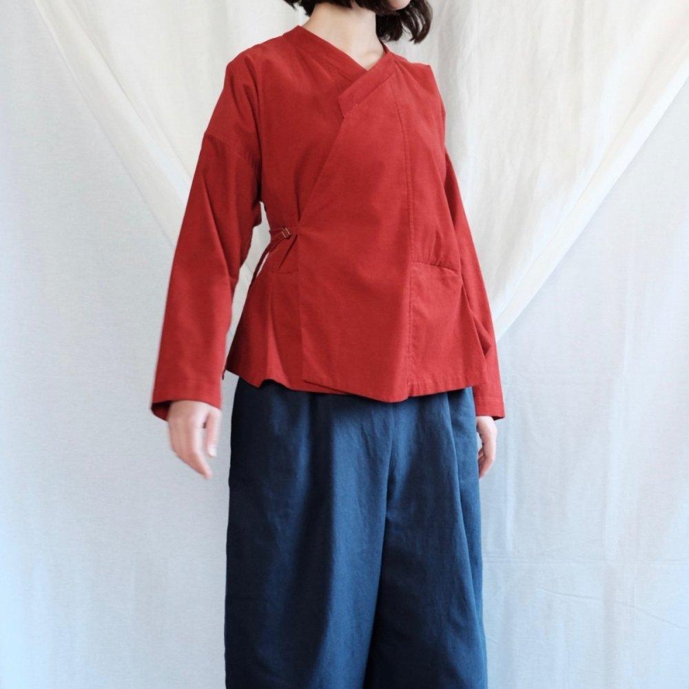 Vietnamese Tribal Deep Red Shirt Jacket by suie