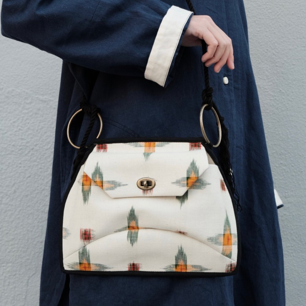 Indonesian Kasuri Textile Ring Bag - A by suie