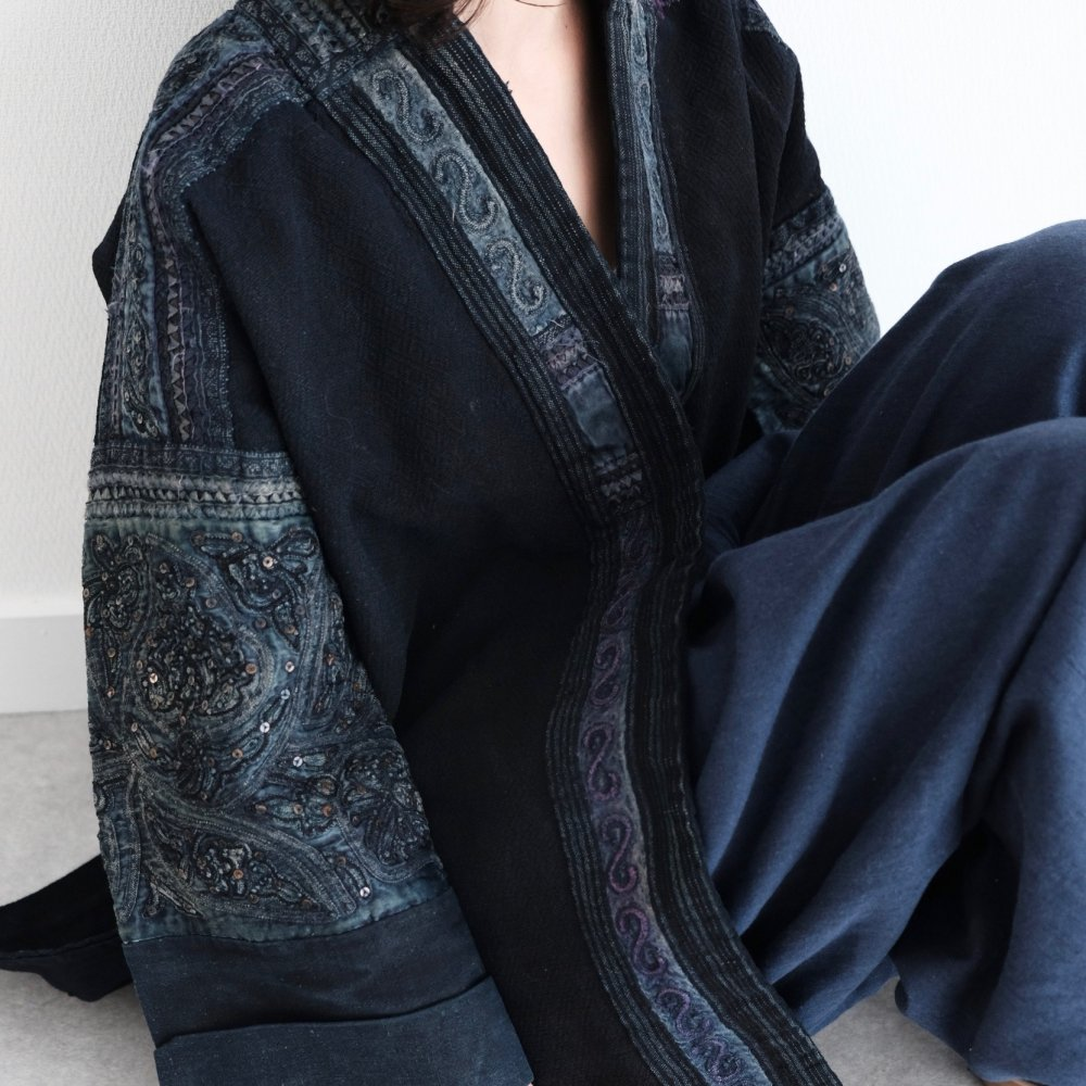 [VINTAGE] Miao People's Purplish Indigo Jacket by Boinu