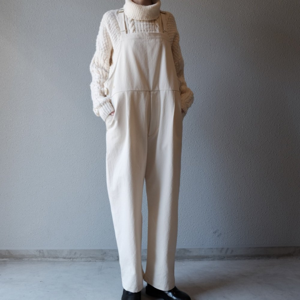 Worker's Ecru Dungarees by suie